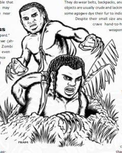 An illustration of the hobbits of Nyambe Tanda