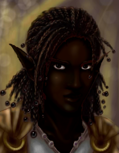 A painting of a wakyambi elf