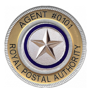 Image of a Royal Postal Agent's Badge.