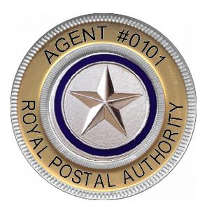 Image of a Royal Postal Agent's Badge.