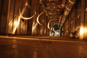 A photo of one of the tunnels of the Superconducting Super-collider, long abandoned by the US Congress