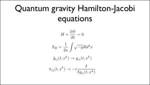 One idea for quantum gravity using a list of Hamilton-Jacobi equations