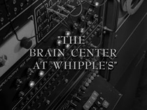 "The title sequence of the Twilight Zone, ""The Brain Center at Whipples"""